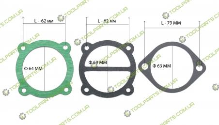 Набор прокладок для компрессора ТИП 1