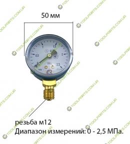Манометр кислородный 2.5 МПа МП-50