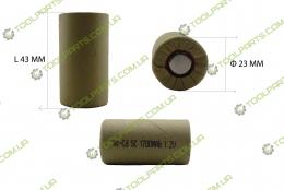 Элемент (банка) аккумулятора 1.2V Ni-Cd 1700mAh