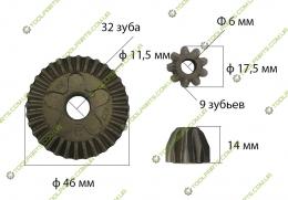 Шестерня болгарки bosch gws 6-100