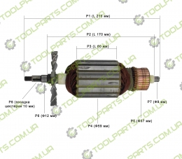 Якорь на болгарку CRAFT 230/2400 W
