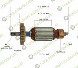 Якорь на болгарку Intertool PT0210