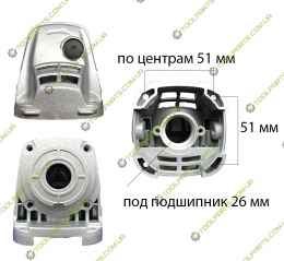 Корпус редуктора на болгарку Dwt 125 T
