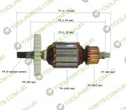 Якорь на сетевой шуруповерт Spektr SED-1150