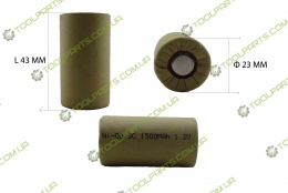 Елемент (банку) акумулятора 1.2V Ni-Cd 1500mAh